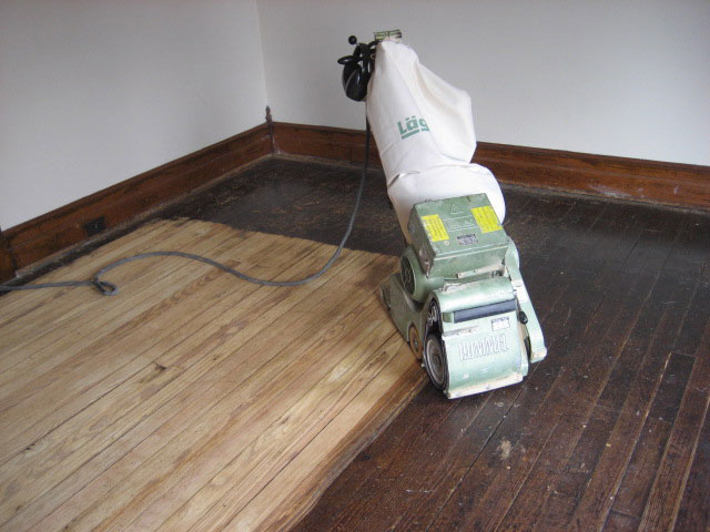Sanding and Refinishing Old Hardwood Floor Hagerstown MD